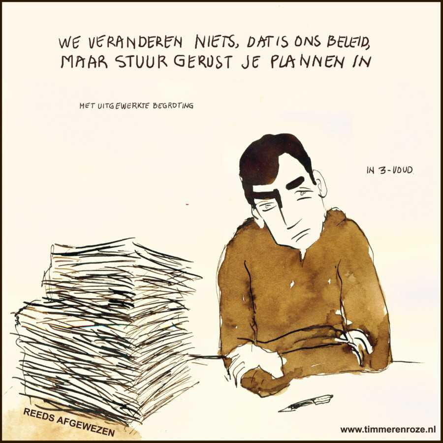timmerenroze cartoon bureaucratie